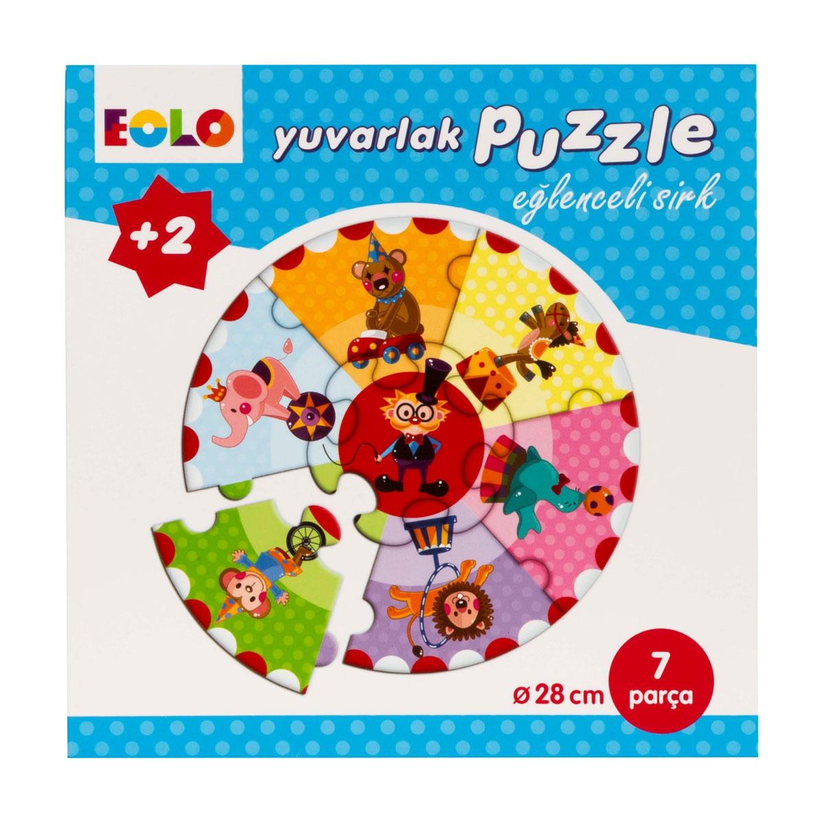 Yuvarlak Puzzle - Eğlenceli Sirk