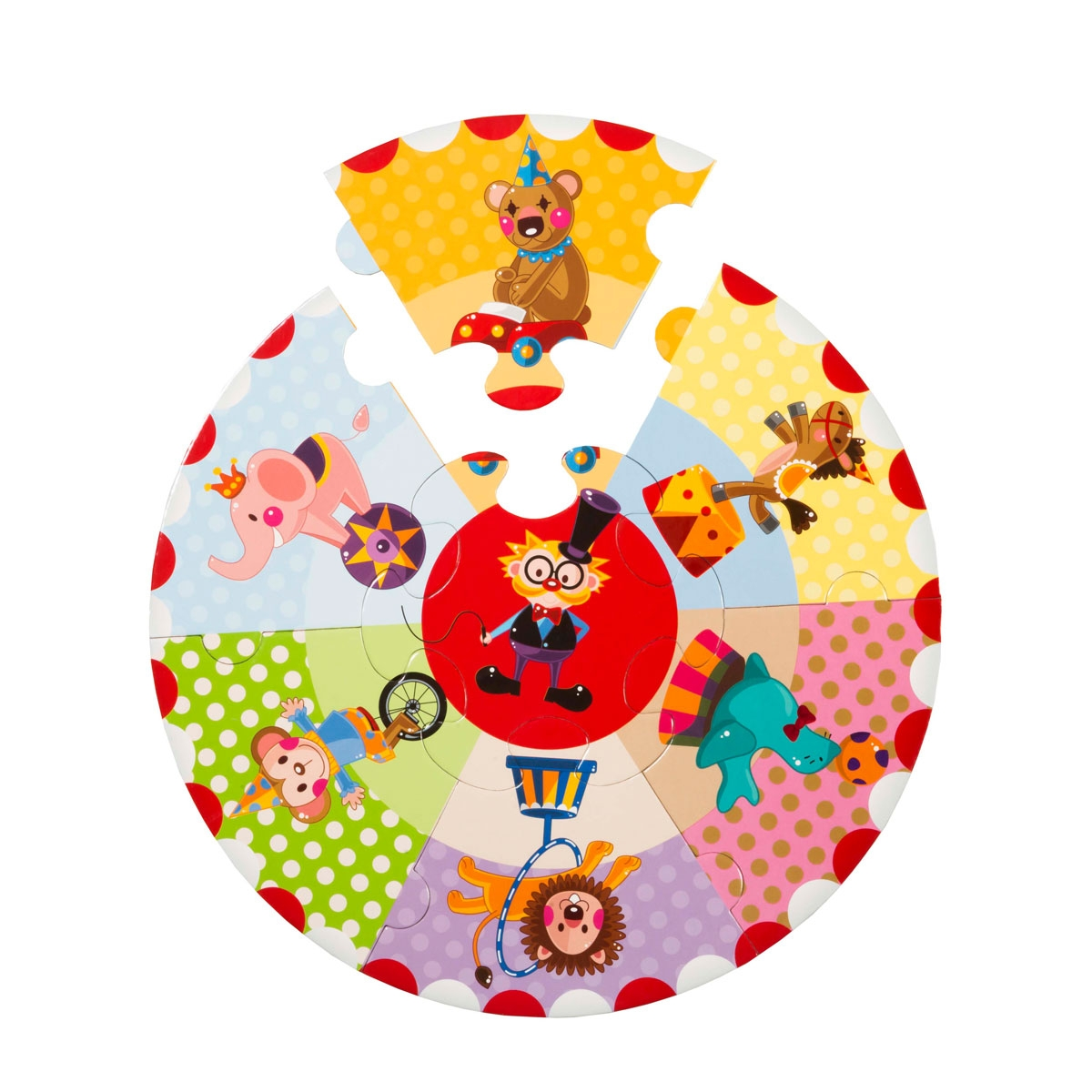 Round Puzzle - Amusing Circus