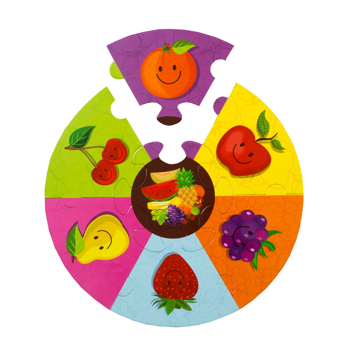 Round Puzzle - Fruits
