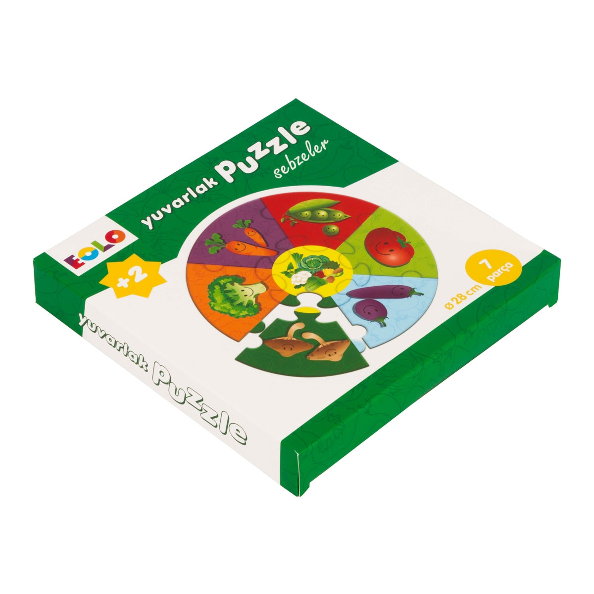 Round Puzzle - Vegetables