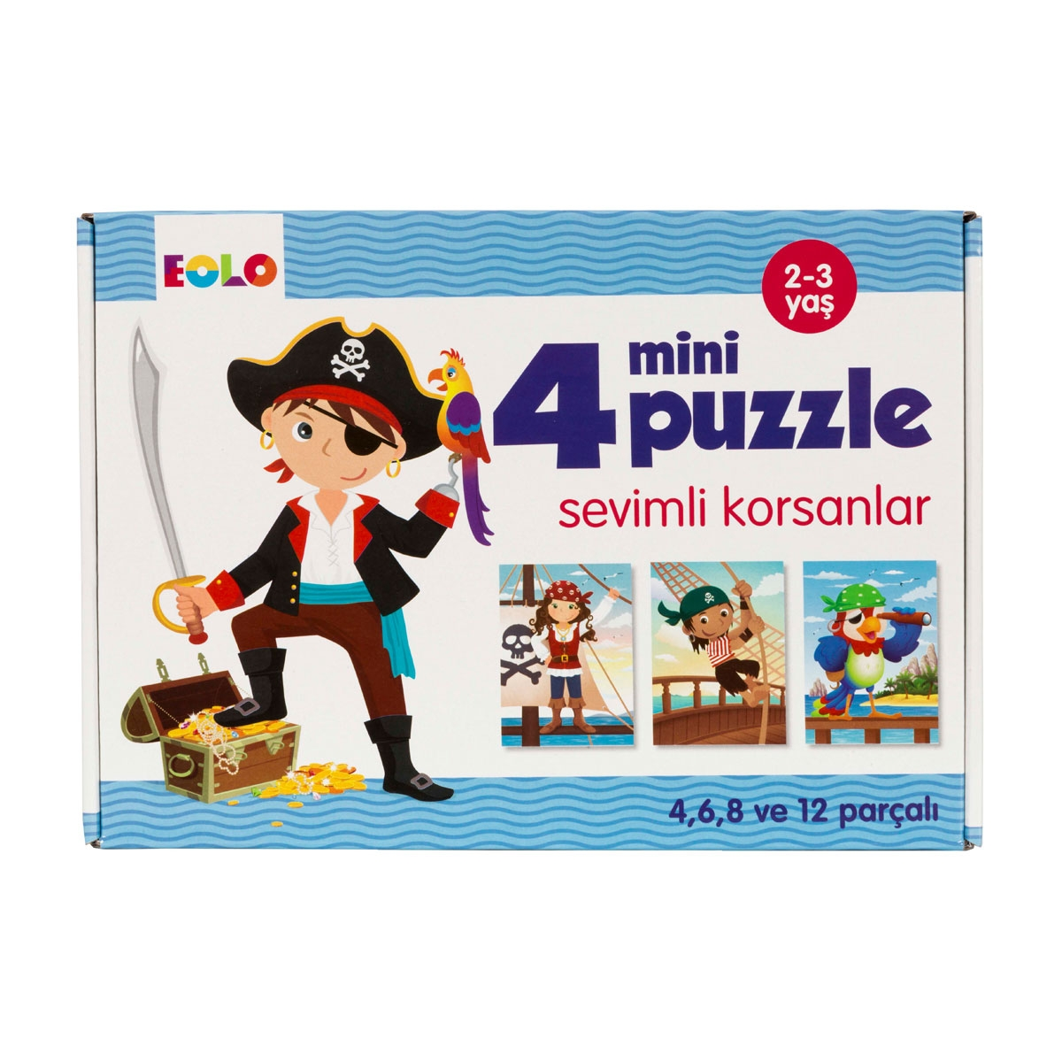 4 Mini Puzzle - Cheerful Pirates
