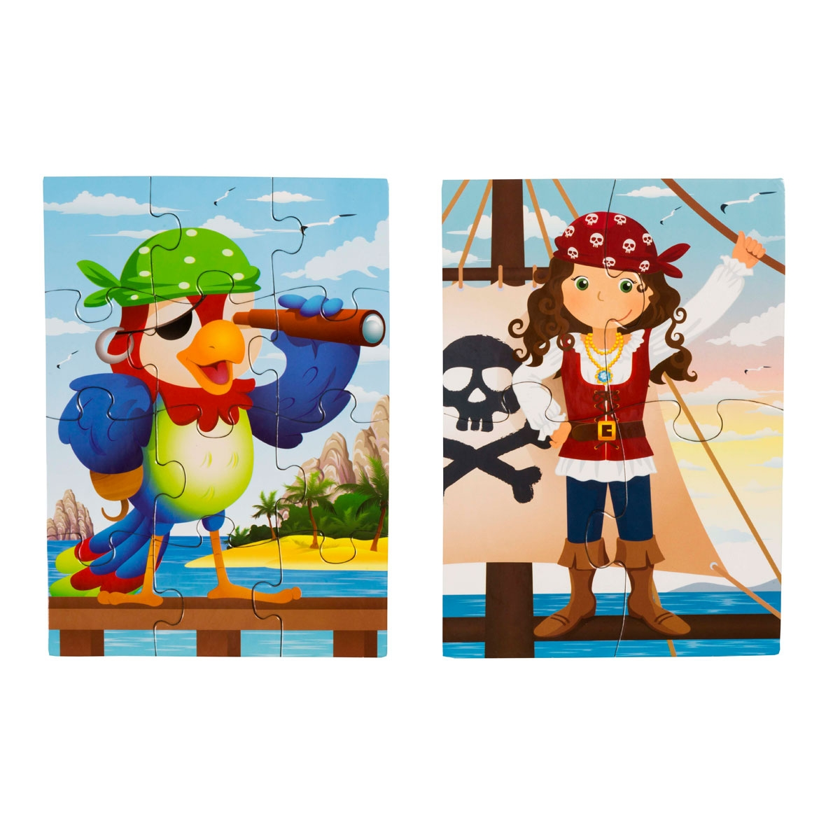 4 Mini Puzzle - Cheerful Pirates