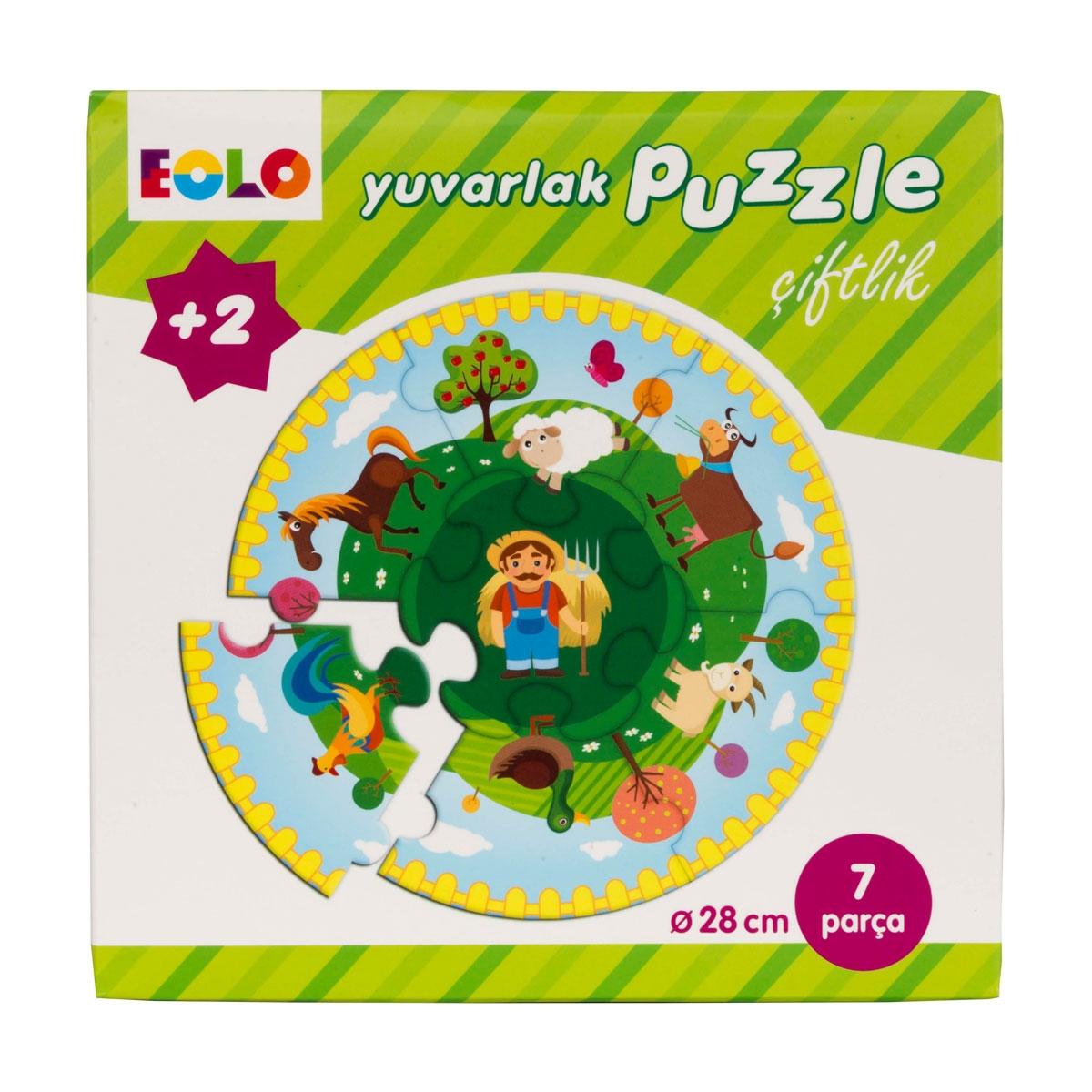 Round Puzzle - Farm