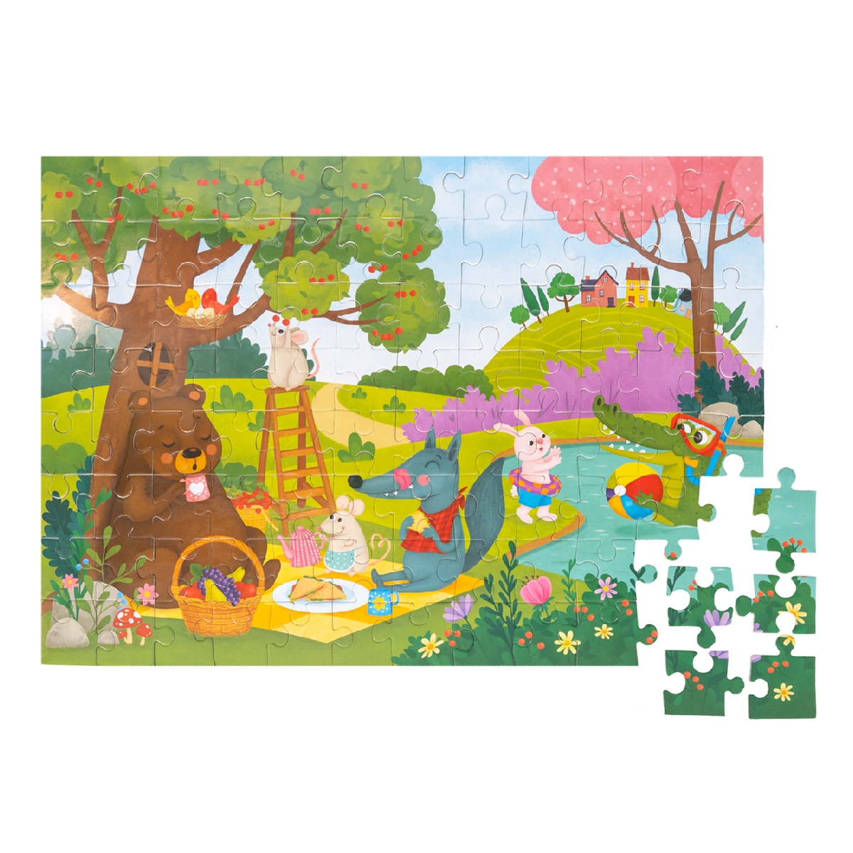 Floor Puzzle – Picnic in the Forest