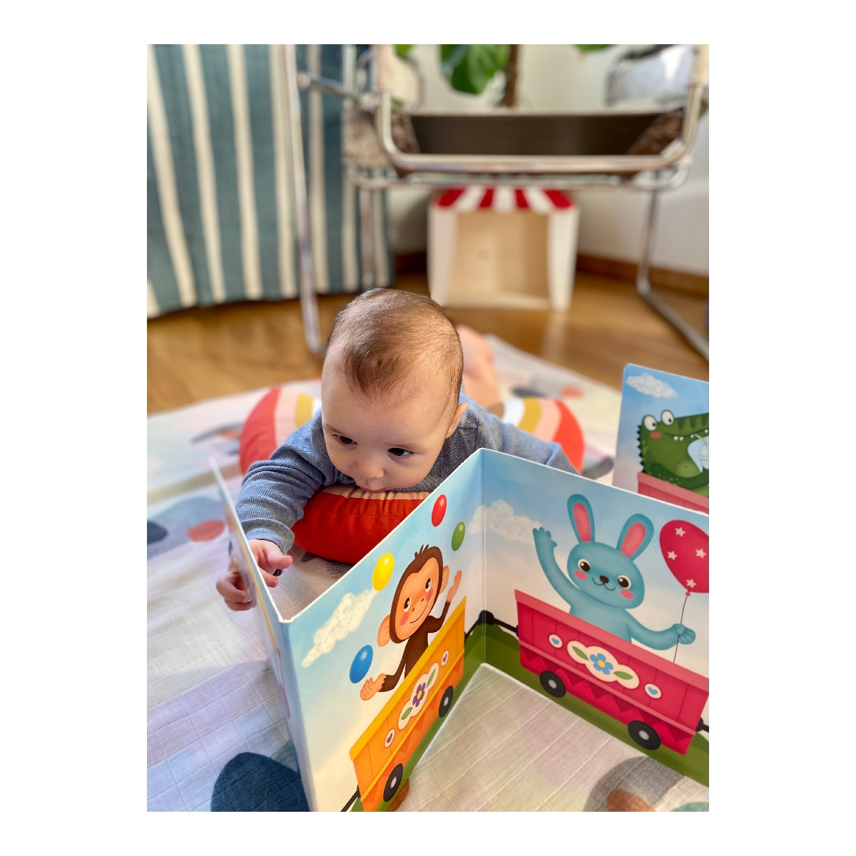Puff Puff Goes the Puffer Train – Tummy Time Activities Book